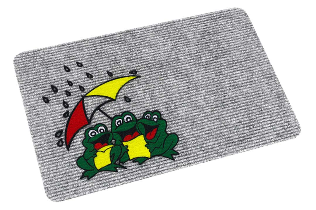 Flocky mat frogs picture